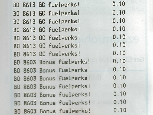 The real reason for this post was to show off this wall of Fuelperks discounts I just got. Half of that gift card balance was spent before I even left the Giant Eagle parking lot.