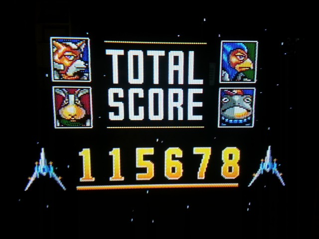 The only high score contest I actually won was Star Fox Super Weekend. It's Star Fox with a Star Soldier-style five minute score attack mode with huge bonuses for shooting down all the enemies in a stage.