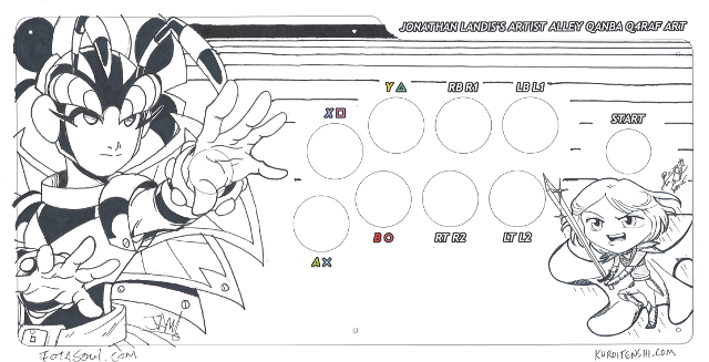 Here's a scan of the finished design that is now in the arcade stick. Click this image for the full 300dpi version.