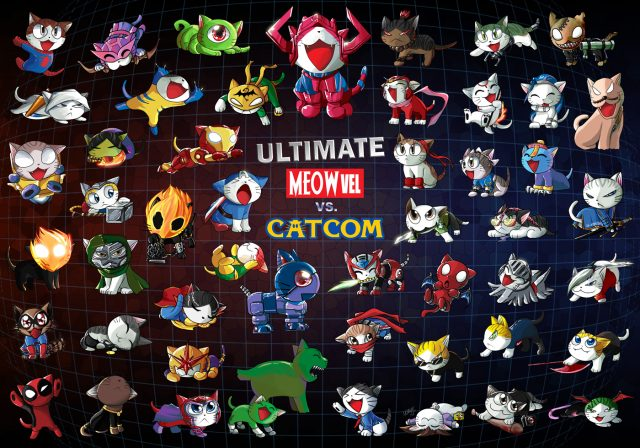 The original only had the vanilla Marvel vs Capcom 3 cast, then it got updated with the DLC characters and the new characters from Ultimate. The original was my wallpaper for a while in the dark ages before this blog.